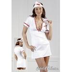 Krankenschwesterkleid {} white/red / M