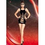 Kleid nahtlos 3  black / S/L - оригинальное платье-сеточка.