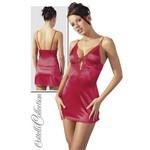 Kleid und String #1 red L - сказочное мини-платье из сатина.