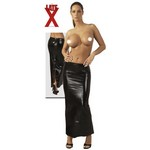Latex Rock lang mit Zip {} black/ L