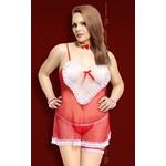 Lola red/ XL - сексапильный костюм горничной.