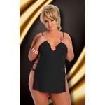 Коротенькое платье с разрезами по бокам «Cornel» черное