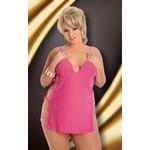 Коротенькое розовое платье с разрезами по бокам «Cornel»