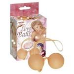 Шарики вагинальные суперкожа Love Balls