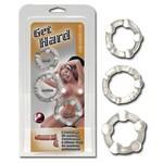Набор 3 колец «Get Hard clear»